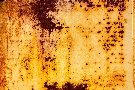 old rusty vintage yellow iron metal horizontal background photo