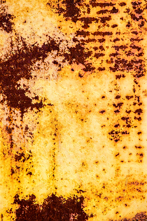 old rusty vintage yellow iron metal vertical background photo