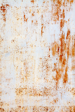 rusty background: white and orange old rusty background Stock Photo