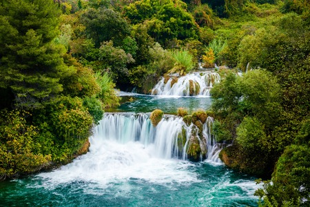 Waterfall cascades of Krka National Park, Croatia