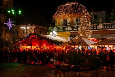 Christmas Market, Vipiteno, Sterzing, Trentino Alto Adige, Italy Stock Photo