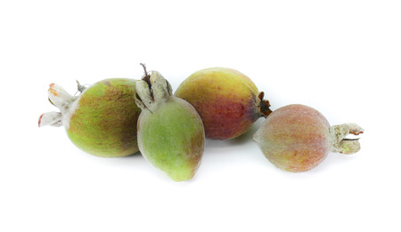 lasting: Pineapple Guava fruits Feijoa Sellowiana are very sweet and emits long lasting perfume Stock Photo