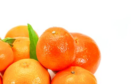 clementines: Different varieties of clementines isolated on white