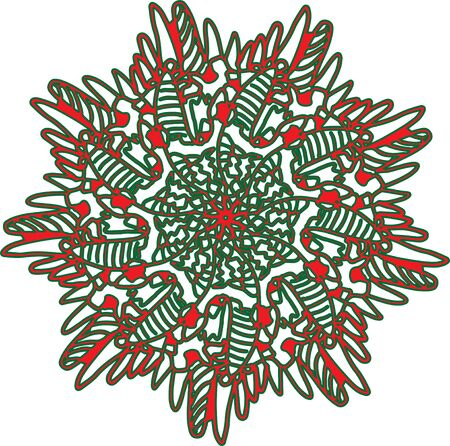 Artistic design template of christmas decoration background, illustration, icon or symbol. For Stickers, Labels, Tags, Stamps, Clipart, Gift Wrapping Paper, T-shirt model design