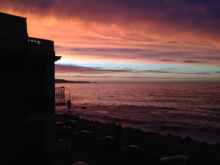via: Beach sunset in Via del Mar