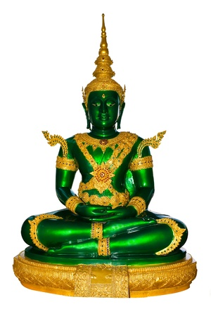 Emerald buddha image in clothes for summer season Stock Photo - 8931355