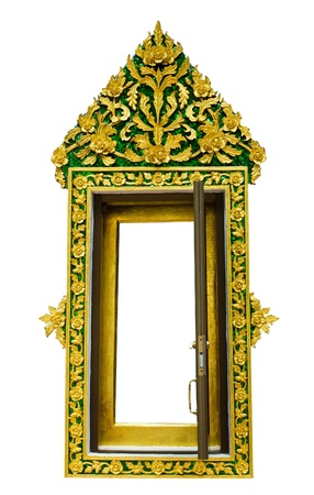 Traditional Thai style window temple open