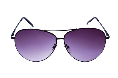 Violet sunglasses isolated on white background  photo