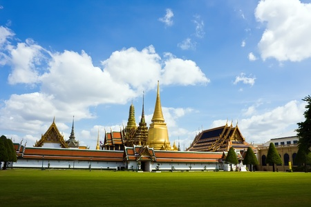 Emerald Buddha temple in the grand palace in Bangkok Thailand  Stock Photo