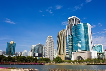 Hot day with blue sky in summer in Bangkok city Thailand Stock Photo - 12790656