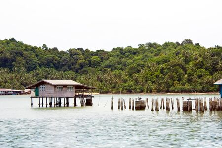 Hut near the beach in the sea,Koh  Chang islands, Thailand