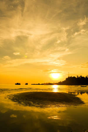 Sunset and cloud on the island, Koh Chang, Thailand  photo
