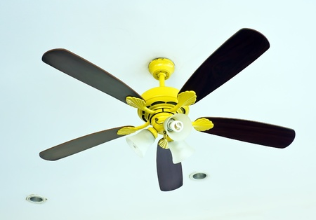 Fan on ceiling for decoration