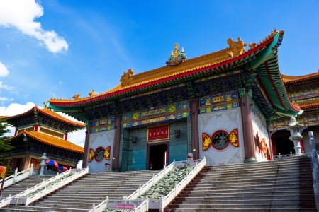 Wat Mangkon Kamalawat,Temple in Chinese style in Bangkok Stock Photo