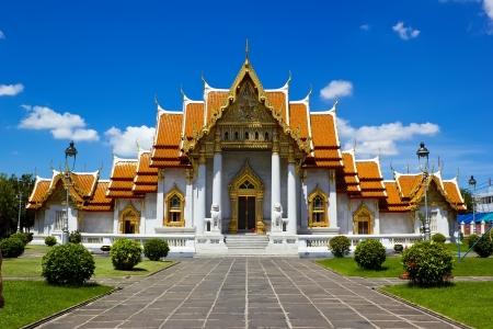 タイのバンコクで大理石寺院