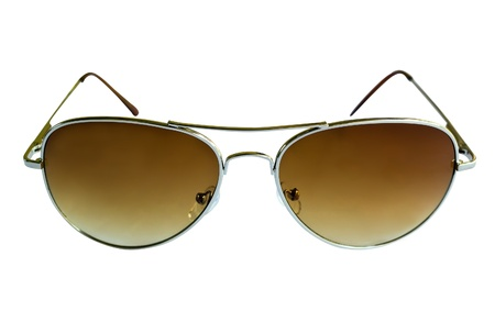 Brown sunglasses isolated on white background Stock Photo - 18371343
