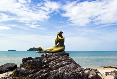 Mermaid symbol of Songkhla at Samila beach