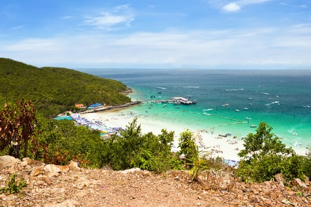 seaview: Sea view from The moutain in Koh Larn, Thailand