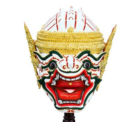 Hanuman mask in Khon Thai classical style of Ramayana Story