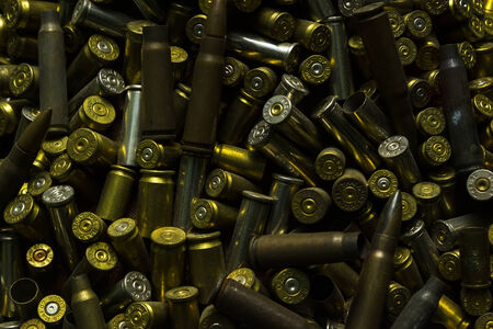 Used metal bullet from the war Stock Photo