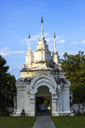 Entry to Wat Suan Dok in Chiang Mai, North of Thailand photo