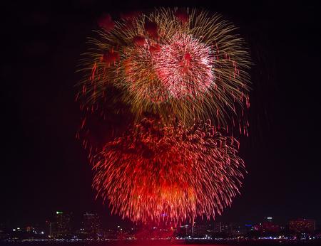 Fireworks international festival in Pattaya, Thailand