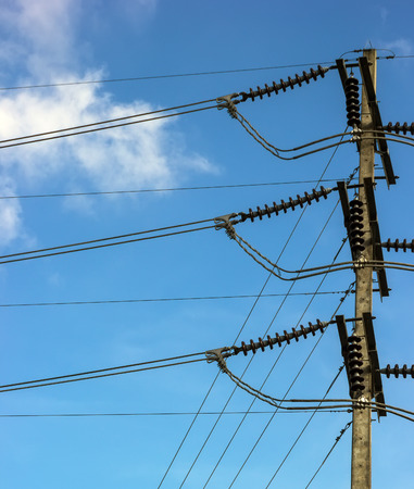 Electricity cable with blue sky