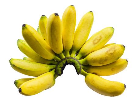 mas: Ripe Pisang Mas banana isolated on white