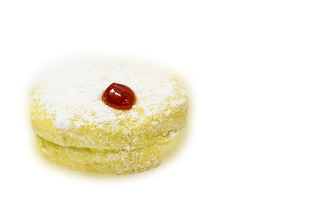 sherry: Donut with sherry isolated on white background