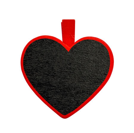 romatic: black heart object isolated on white background