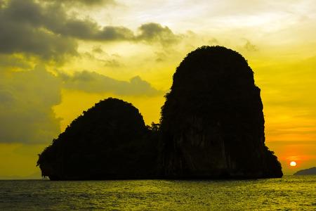 Sunset at Happy Island in Krabi