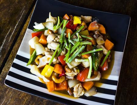 Thai food, Stir-fried Chicken with cashew nut  photo