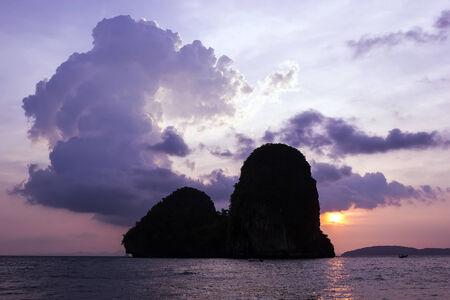 Cloud and sunset at Happy Island, Krabi