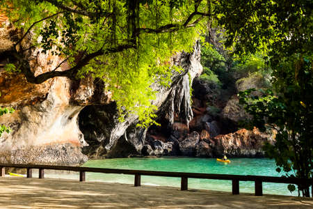 phra nang: View at Phra Nang beach in Krabi, Thailand