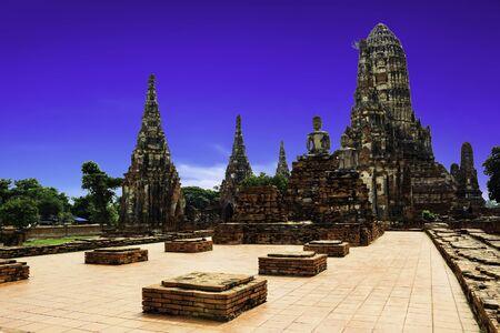 Wat Chaiwatthanaram temple in Ayudhaya Stock Photo