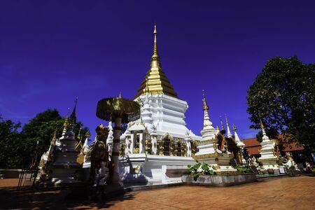 chaimongkol: Phra That Doi Wiang Chaimongkol temple in Chiangmai, Thailand Stock Photo