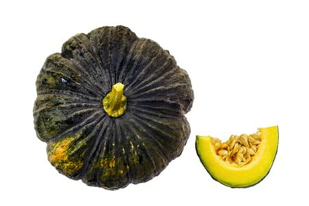 Tropical pumpkin isolated on white background