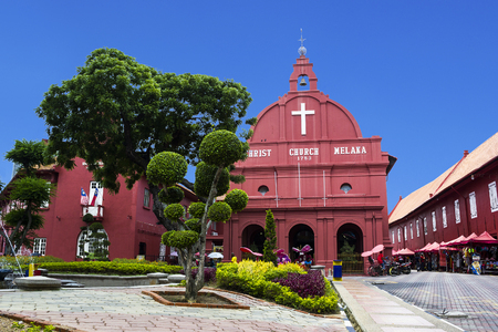 Christ church in Malacca, Malaysia