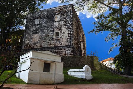 Anceint building St. Paul church history landmark in Malaysia