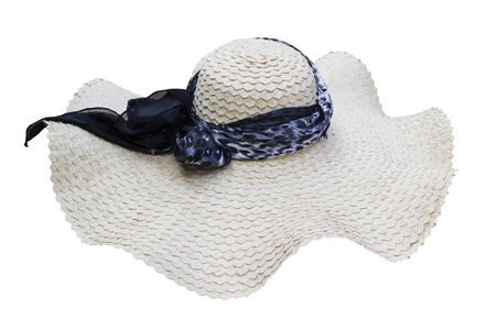 White hat made from natural material