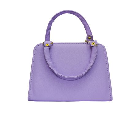 Purple woman purse isolated on white Stock Photo