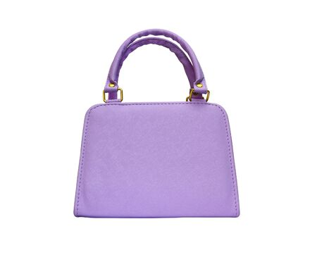 Violet woman purse isolated on white Stock Photo