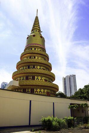 Pagoda in Wat Chaiyamangalaram Penang, Malaysia