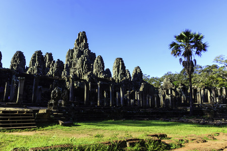 Ancient ruin Bayon Temple in Siem Reap