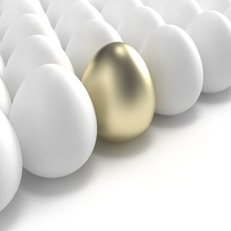 Individuality: golden egg among usual white eggs