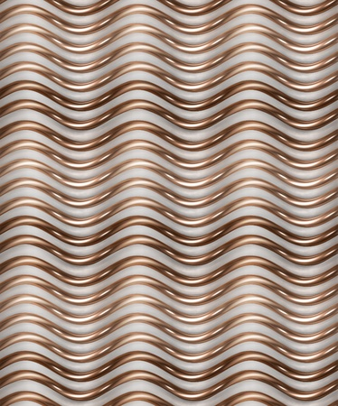 crinkles: Seamless texturebackground made of golden and white crinkles Stock Photo