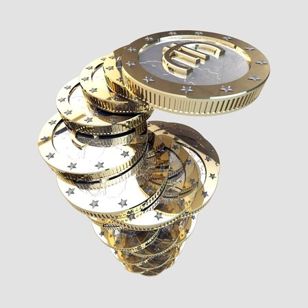Pile of stylized euro coins Stock Photo - 11538111