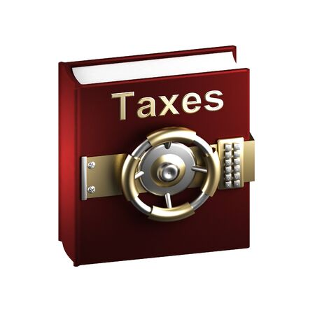 Taxes as a top secret book photo