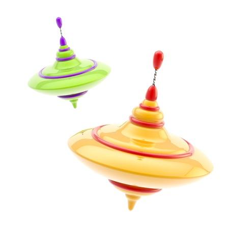 Due tipi di girandole colorate lucide Archivio Fotografico