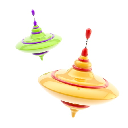 Two kinds of colorful glossy whirligigs